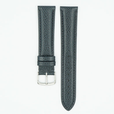 Hermes Grain Leather Watch Strap - Navy