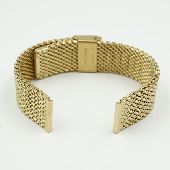 Milanese Gold Tone Mesh Watch Band