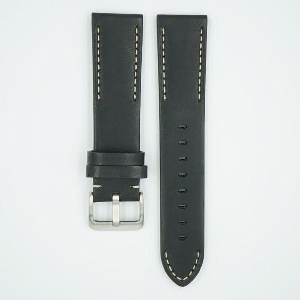 Handmade Vintage Black Leather Strap