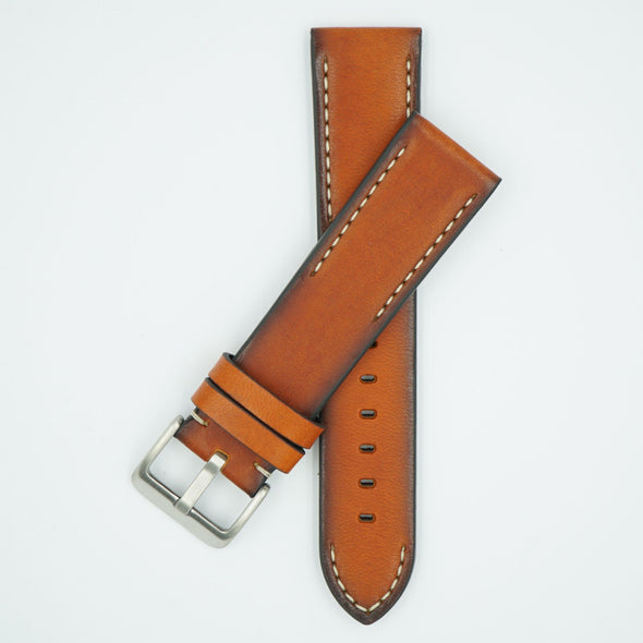 Handmade Vintage Cognac Leather Strap
