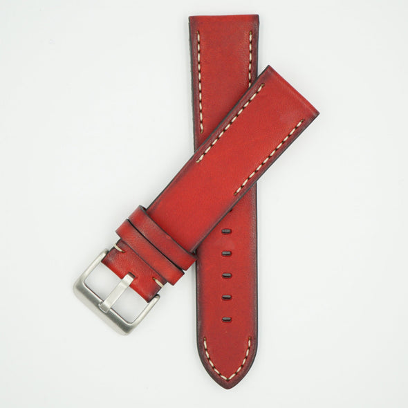Handmade Vintage Red Leather Strap