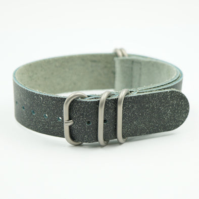 Grey Distressed Leather NATO Strap