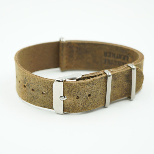 Brown Worn Leather NATO Strap