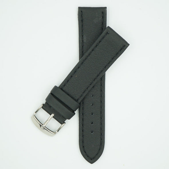Lorica Vegan Leather Black Watch Strap