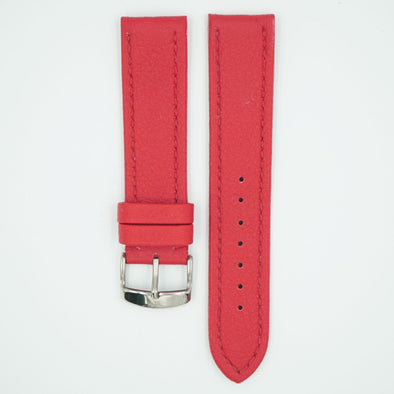 Lorica Vegan Leather Red Watch Strap