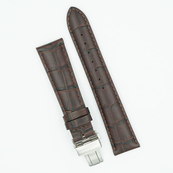 Italian Calfskin Brown Deployant Watch Band