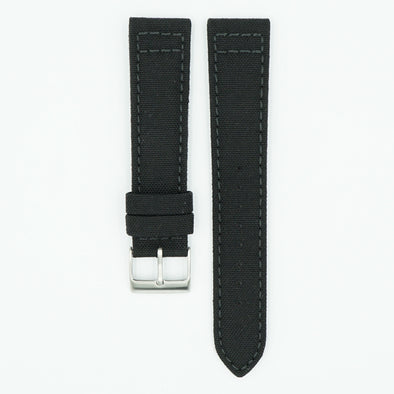 Cordura Fabric Black Watch Strap