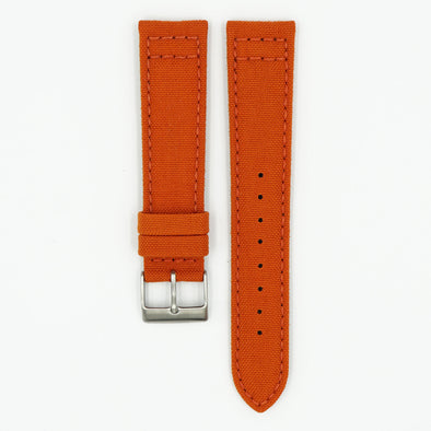 Cordura Fabric Orange Watch Strap