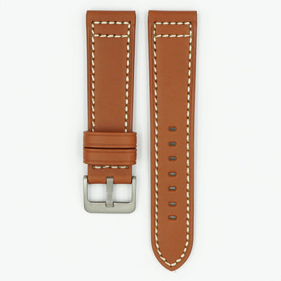Saddle Tan Leather Watch Strap
