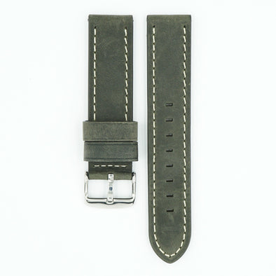 Kodo Grey Leather Watch Band