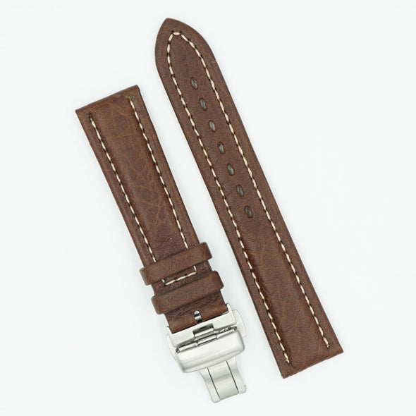 Remborde Leather Brown Deployant Watch Band