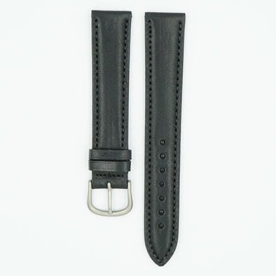 Vegetable Tanned Long Black Leather Watch Band