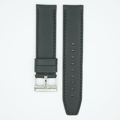 Horween Distressed Black Leather Watch Strap