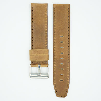 Horween Distressed Rust Leather Watch Strap