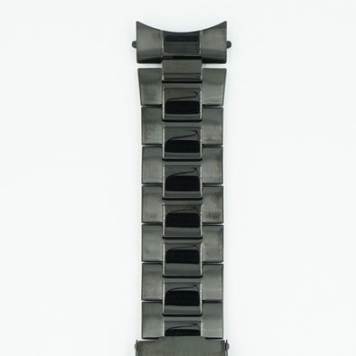 PVD Black Stainless Steel 24mm Watch Bracelet