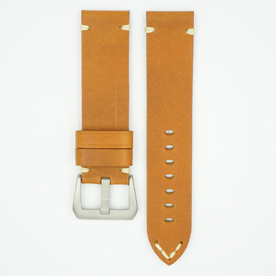 Vintage Heavy Tan Leather Watch Strap