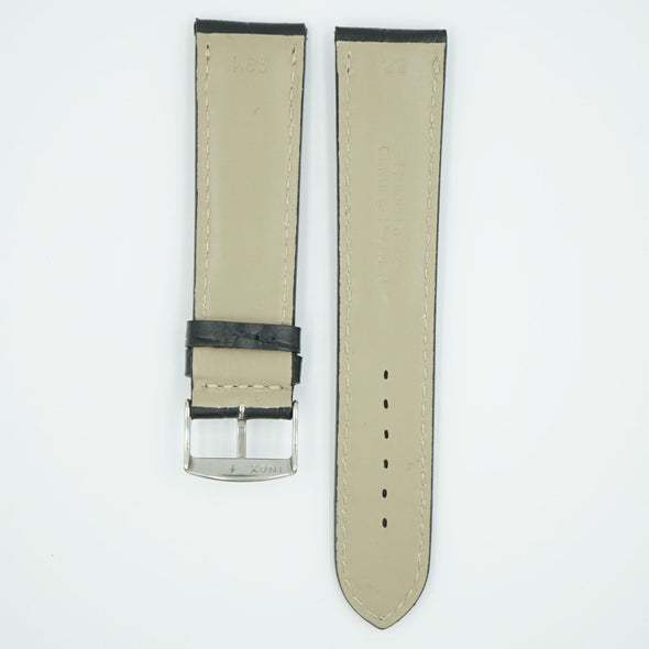 Florence Black Alligator Grain Leather Watch Band