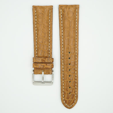 Milano Tan Alligator Leather Watch Strap