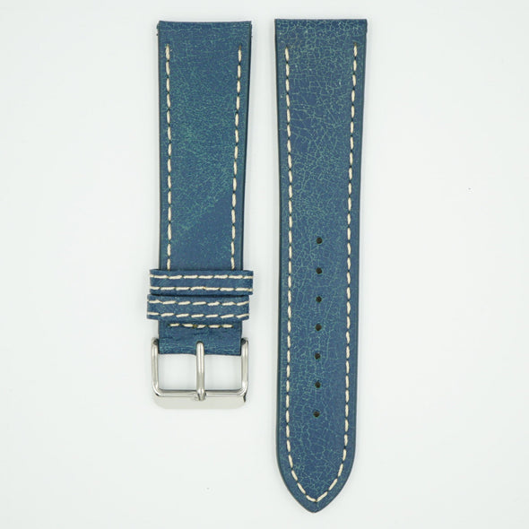Bomber Blue Faded Leather Watch Band