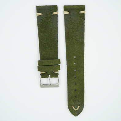 Rustic Vintage Green Leather Strap