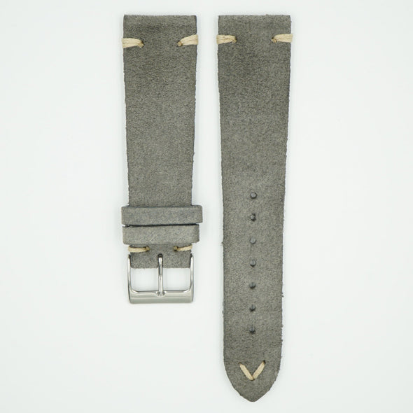 Rustic Vintage Grey Leather Strap