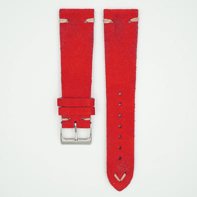 Rustic Vintage Red Leather Strap