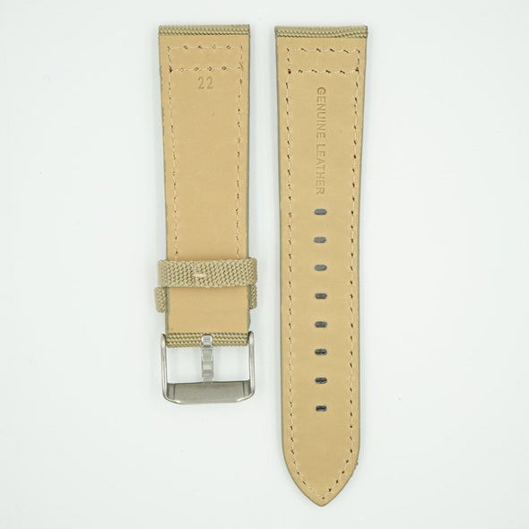 Canvas Watch Strap Beige