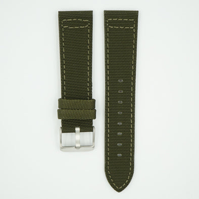 Canvas Watch Strap Forest Green