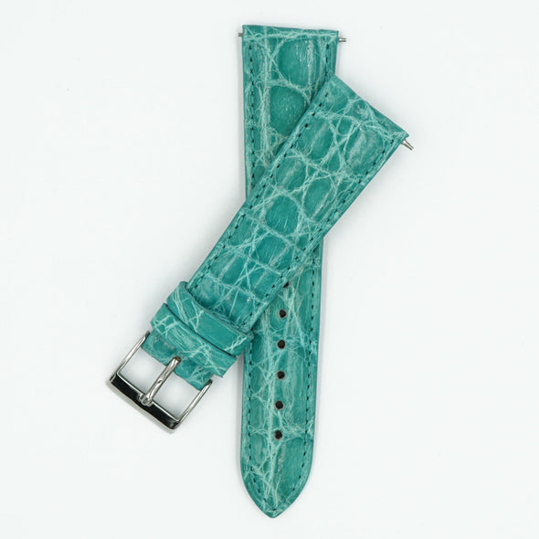 Womens Crocodile Watch Strap - Turquoise