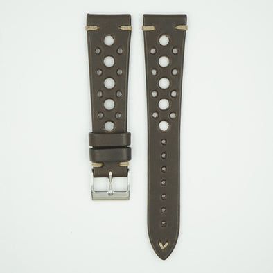 Brown Vintage Racing Leather Watch Strap