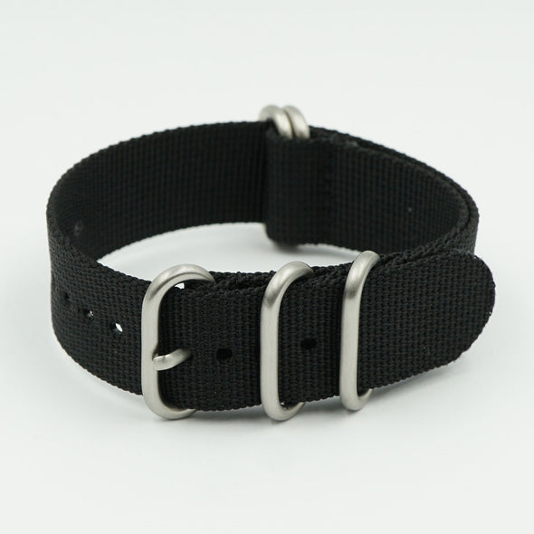 Black Heavy NATO Watch Strap