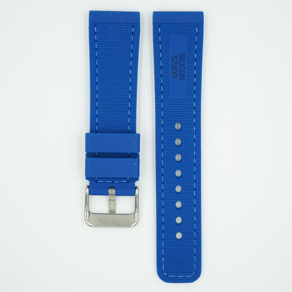 Perforated Silicone Sport Blue Strap