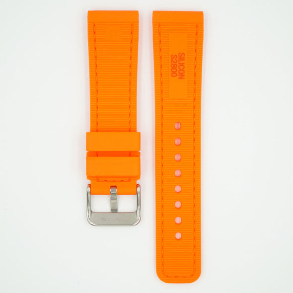 Perforated Silicone Sport Orange Strap