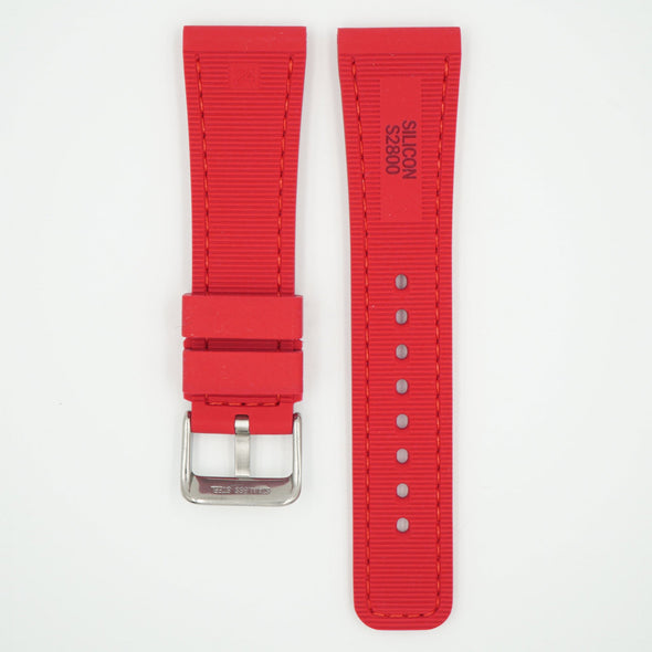 Perforated Silicone Sport Red Strap