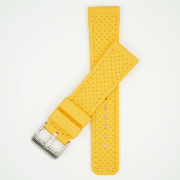 Perforated Silicone Sport Yellow Strap
