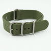 NATO Nylon One Piece Green Strap