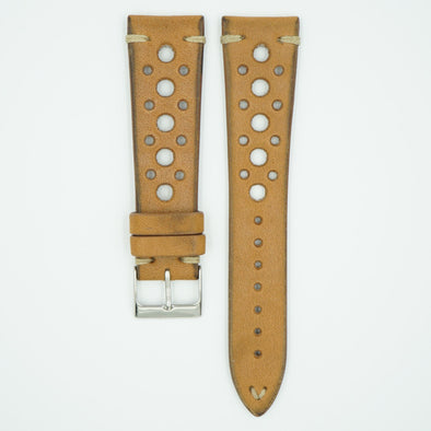 Alder Tan Vintage Racing Leather Watch Strap