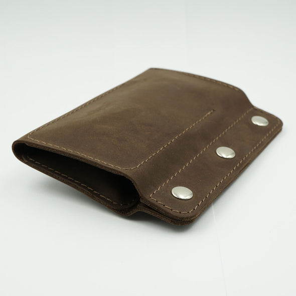 Brown Leather Roll for 2 Watches