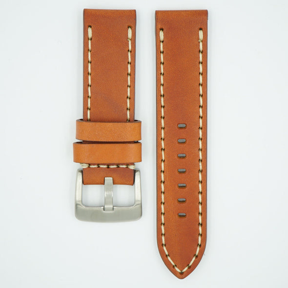 Heavy Single Ply Tan Leather Strap