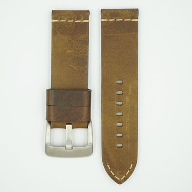 Thick Vintage Olive Leather Strap