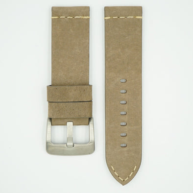 Thick Vintage Taupe Leather Strap