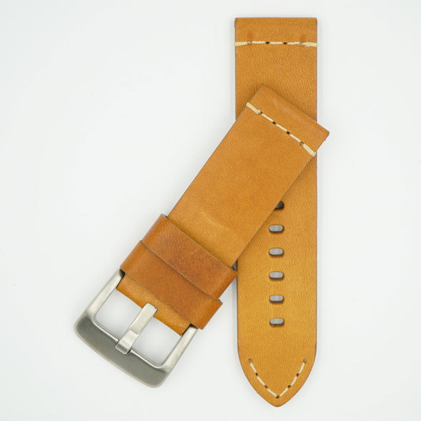 Thick Vintage Tan Leather Strap