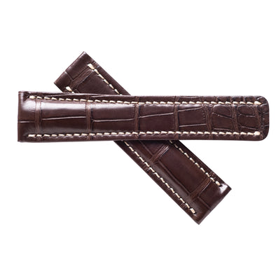 Aero Brown Alligator Leather Band For Breitling