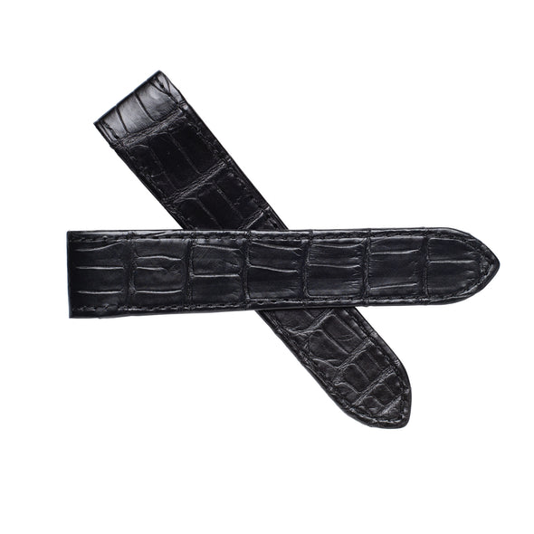 Cartier Santos 100 XL Black Alligator Leather Watch Band
