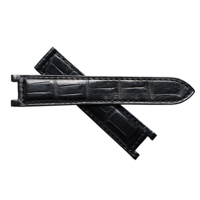 Cartier Pasha 38mm Alligator Watch Band - Black