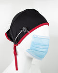 Ear Relief Standard Cap (BLACK W/ RED)