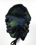 Ear Relief Bouffant Cap (MIDNIGHT PALM)