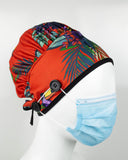 Ear Relief Bouffant Cap (TROPICAL)