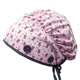 Ear Relief Bouffant Cap (Think Pink)