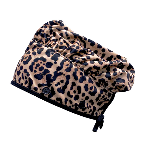 Ear Relief Bouffant Cap (LEOPARD)